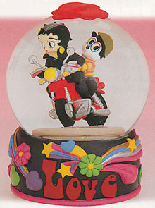 Betty Boop Motorcycle Motion Musical