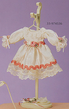 Lavish Victorian Dress Miniature