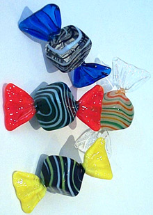 Art Glass Candy 4 piece