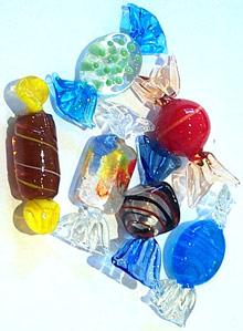 Art Glass Candy 6 piece