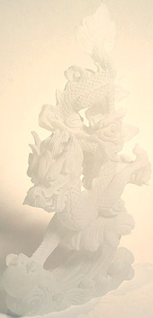Dragon Sculpture - white